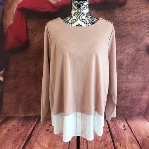 Calvin Klein Long Sleeve Blouse Top XL